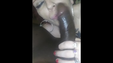 Filled my neighbor nasty wife throat with my cum