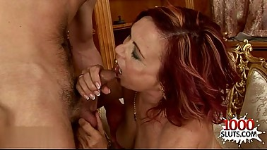 Horny housewife throat fuck