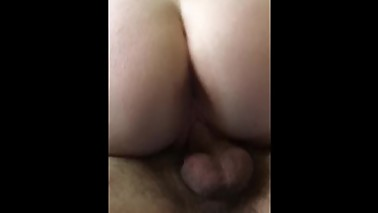 Wife riding 21year old cock this morning part 1