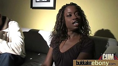 Naughty black wife gang banged by white friends 11