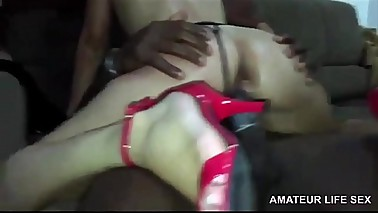 DESTROYING ASS AND PUSSY OF THE BRAZILIAN WIFE