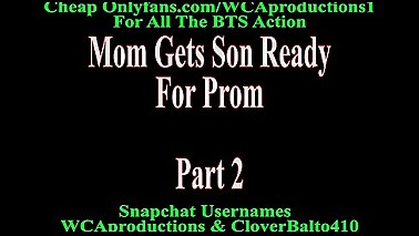 Mom Gets Son Ready For Prom Part 2
