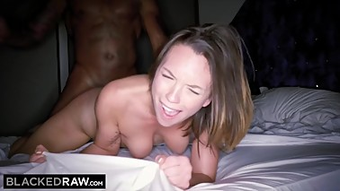 BLACKEDRAW Smoking Swinger wife tries black cock