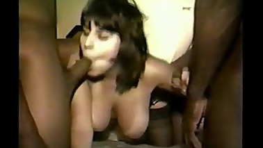 Old video of Hot Wife Gloria first Gang Bang on film
