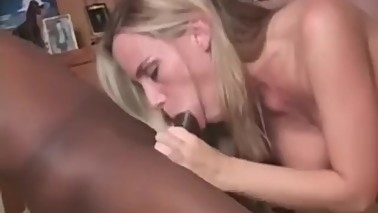 Hotwife Swallows BBC while Husband watches
