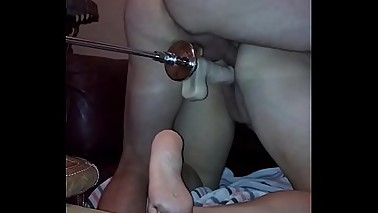 wife ibi DP with husband and sex machine