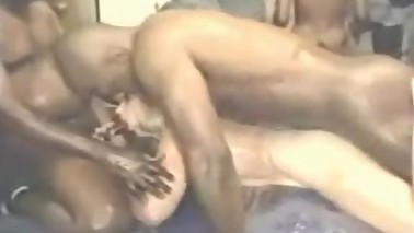 Cockold wife gangbanged by black dudes