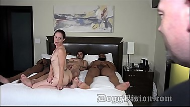 Petite Stepmom Gets DP from Family Members