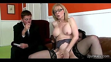 Big stacked blonde MILF helps queer son to keep his jobuckold-9761 02 big-3