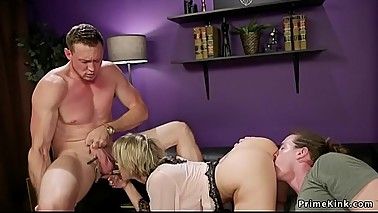Domme wife fucks guy in front of husband