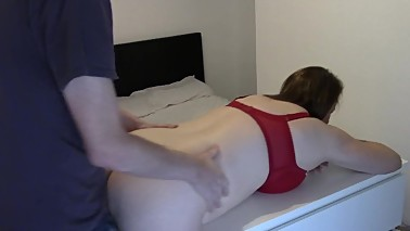 Slut Wife Tag Team Hard & Creampies by 2 Mates