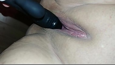Stranger use dildo to satisfy my wife before he is fucking her