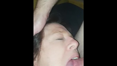 Wife sucks boyfriends cock while I'm fucking her