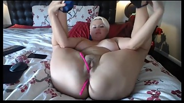Sexy BBW double penetration horny blonde chubby wife anal sex