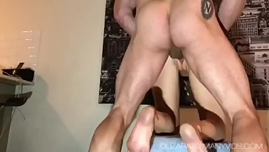 Hotwife loves bull cock and creampie. Cucky hubby made to clean up the mess