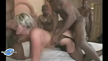 Busty Wife Interracial Gangbang